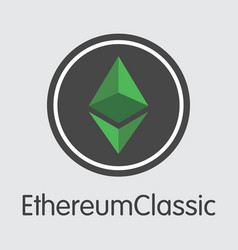 ethereum classic - colored logo vector image