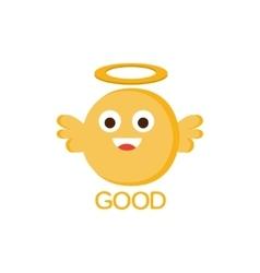 Good yellow angel word and corresponding vector