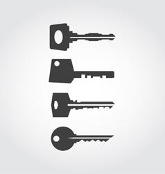 Keys Black Icon Set vector image vector image