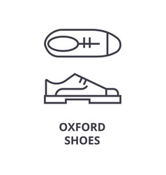 oxford shoes line icon outline sign linear vector image