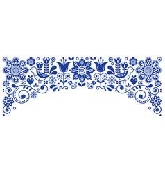 scandinavian folk art frame border retro vector image vector image