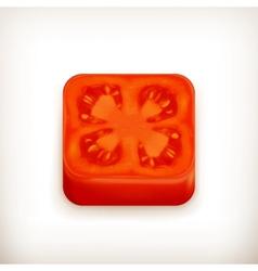 Slice of tomato app icon vector image