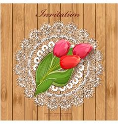 tulip8 vector image vector image