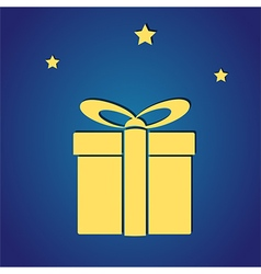 gift box with stars vector image
