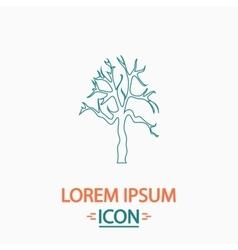 Old Tree computer symbol vector image vector image