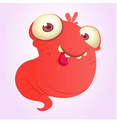 silly cartoon red monster vector image vector image