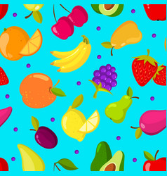 summer tropical fruits seamless background vector image vector image