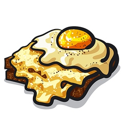 toast with egg and cheese vector image vector image