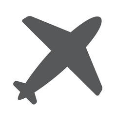 airplane symbol travel icon flat design eps 10 vector image