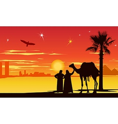 Arabian night background vector