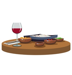 asian food and wine vector image vector image