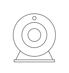 Attachable webcam icon image vector