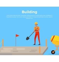 Building Banner Web Design Flat vector image