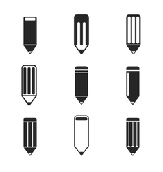 Pencil design Icon set Eps 10 vector image