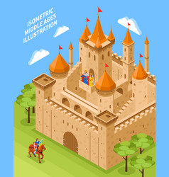 Royal castle composition vector