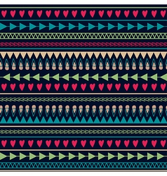seamless pattern with hearts lines arrows vector image vector image