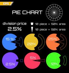statistics with a circular diagram vector image