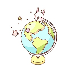 A desk globe is placed vector image vector image