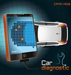 Car diagnostic gadget vector