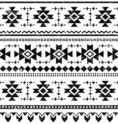 Tribal aztec retro seamless pattern vector image vector image