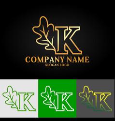 01 oak letter k vector image