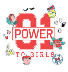 01 power to girls vector