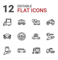 12 car icons vector