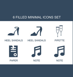 6 minimal icons vector