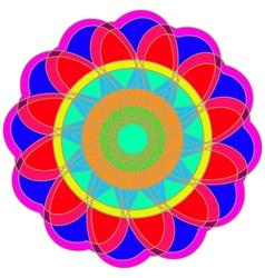 Abstract colorful geometric fracral mandala vector