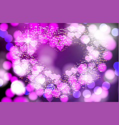 abstract heart blurred light bokeh lights and vector image