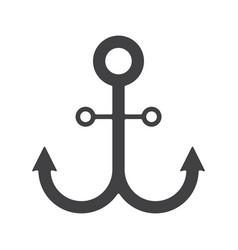 Anchor glyph icon vector