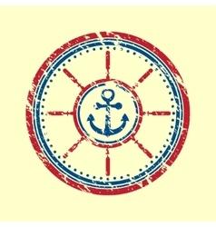 Anchor symbol grunge vector image