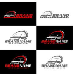 automotive logo template vector image