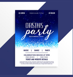 Beautiful christmas party celebration flyer design vector