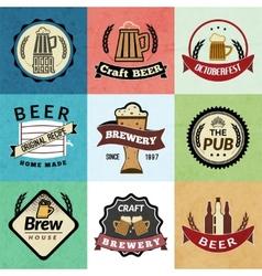Beer retro labels vector image