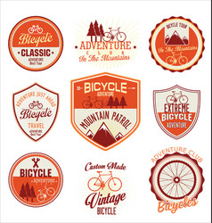 bicycle retro badge collection vector image