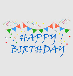 Birth day title logo or flat icon vector