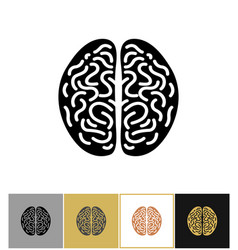 brain icon intelligence sign vector image