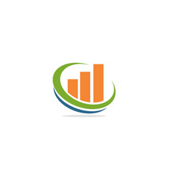 business graph statistic logo vector image