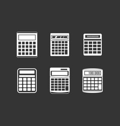 calculator icon set grey vector image