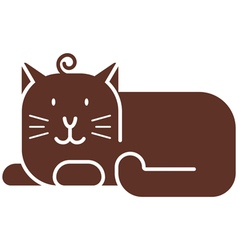 Cat icon vector image