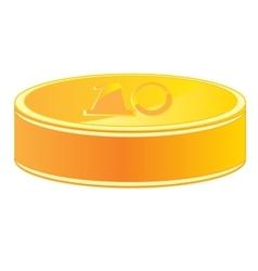 Coin from gild vector