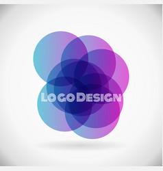 color design element violet logo in eps10 vector image