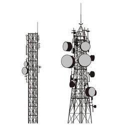 Communication towers vector