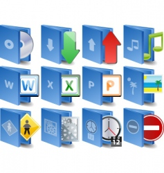 computer icons document icon set vector image