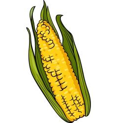 Corn on the cob cartoon vector