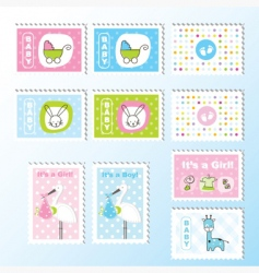 cute stamps vector image