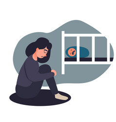 Depressed young woman vector