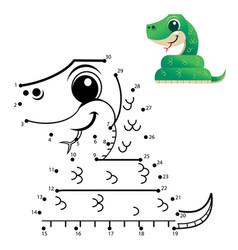 dot to dot game vector image