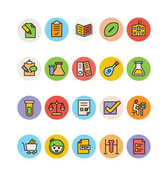 Education Colored Icons 9 vector image